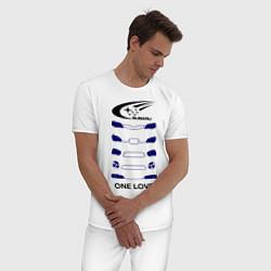 Пижама хлопковая мужская One love subaru цвета белый — фото 2