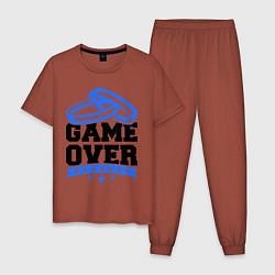 Пижама хлопковая мужская Game over Свадьба цвета кирпичный — фото 1