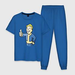 Пижама хлопковая мужская Fallout vault boy цвета синий — фото 1