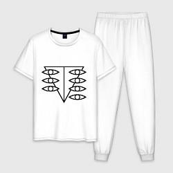 Пижама хлопковая мужская Евангелион цвета белый — фото 1