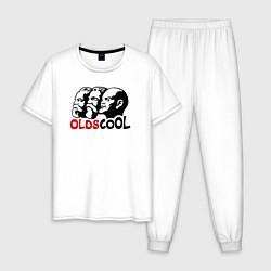 Пижама хлопковая мужская Oldscool USSR цвета белый — фото 1