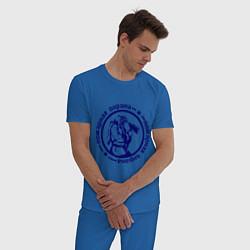 Пижама хлопковая мужская Пожарная охрана цвета синий — фото 2