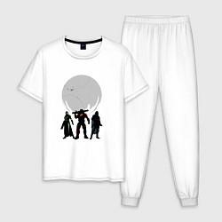 Пижама хлопковая мужская Destiny Guardians цвета белый — фото 1
