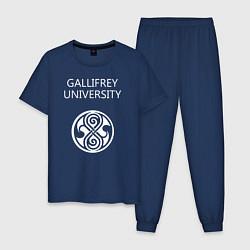 Пижама хлопковая мужская Galligrey University цвета тёмно-синий — фото 1