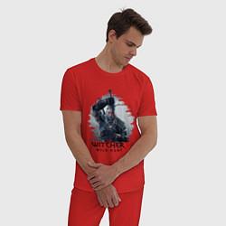 Пижама хлопковая мужская The Witcher 3 цвета красный — фото 2