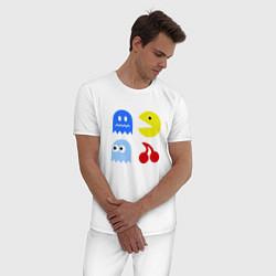 Пижама хлопковая мужская Pac-Man Pack цвета белый — фото 2