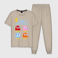 Пижама хлопковая мужская Pac-Man: Usual Suspects цвета миндальный — фото 1