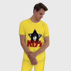 Пижама хлопковая мужская Kiss Star цвета желтый — фото 2