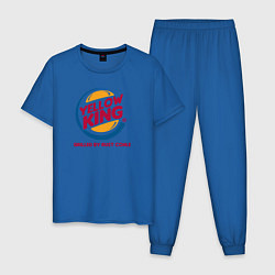 Пижама хлопковая мужская Yellow King цвета синий — фото 1