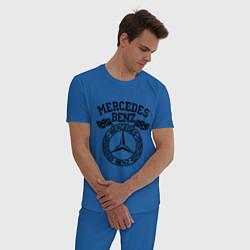 Пижама хлопковая мужская Mercedes Benz цвета синий — фото 2