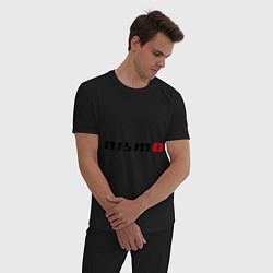 Пижама хлопковая мужская Nismo цвета черный — фото 2