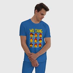 Пижама хлопковая мужская Wu-Tang Clan Faces цвета синий — фото 2