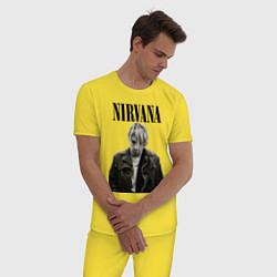 Пижама хлопковая мужская Kurt Cobain: Young цвета желтый — фото 2