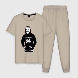Пижама хлопковая мужская Stalingrad 34 цвета миндальный — фото 1