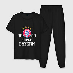 Пижама хлопковая мужская Super Bayern 1900 цвета черный — фото 1