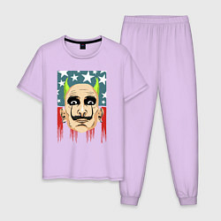 Пижама хлопковая мужская The Prodigy: Dali USA цвета лаванда — фото 1
