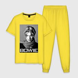 Пижама хлопковая мужская Bowie Legend цвета желтый — фото 1