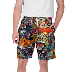 Шорты на шнурке мужские Dsquared tatoo цвета 3D — фото 1