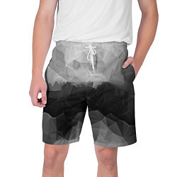 Шорты на шнурке мужские Polygon gray цвета 3D — фото 1