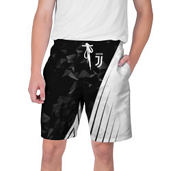 Шорты на шнурке мужские FC Juventus: Abstract цвета 3D — фото 1