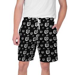 Шорты на шнурке мужские Twitch: Black Pattern цвета 3D — фото 1