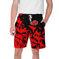Шорты на шнурке мужские AKATSUKI цвета 3D — фото 1