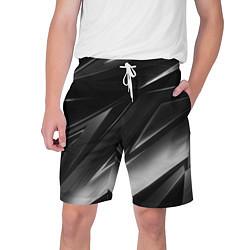 Шорты на шнурке мужские GEOMETRY STRIPES BLACK & WHITE цвета 3D — фото 1