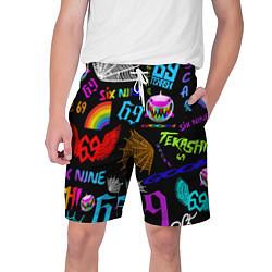 Шорты на шнурке мужские 6IX9INE цвета 3D-принт — фото 1
