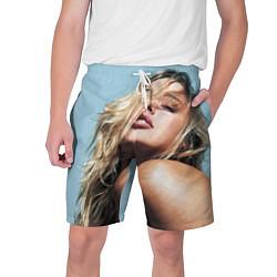 Шорты на шнурке мужские Страстная девушка, красивая цвета 3D — фото 1