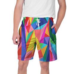Шорты на шнурке мужские Радуга цвета 3D — фото 1