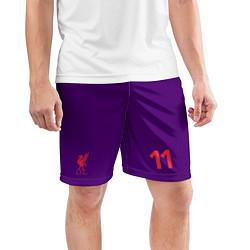 Шорты спортивные мужские FC Liverpool: Salah Away 18/19 цвета 3D — фото 2