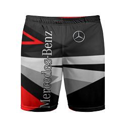 Шорты спортивные мужские Mercedes-Benz цвета 3D-принт — фото 1