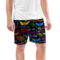 Шорты спортивные мужские 6IX9INE цвета 3D — фото 2