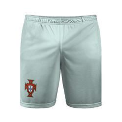 Шорты спортивные мужские Portugal away bottom цвета 3D-принт — фото 1