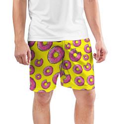 Шорты спортивные мужские Пончики Гомера цвета 3D — фото 2