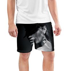 Шорты спортивные мужские Девушка в шляпе цвета 3D — фото 2