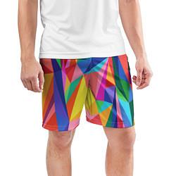 Шорты спортивные мужские Радуга цвета 3D — фото 2