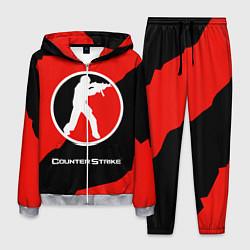 Костюм мужской CS:GO Red Style цвета 3D-меланж — фото 1
