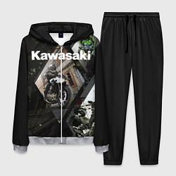 Костюм мужской Kawasaky цвета 3D-меланж — фото 1