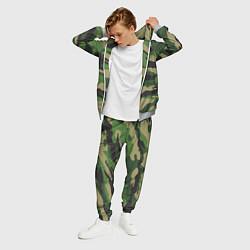Костюм мужской Камуфляж: хаки/зеленый цвета 3D-меланж — фото 2