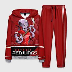 Костюм мужской Detroit Red Wings цвета 3D-меланж — фото 1