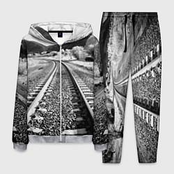 Костюм мужской Железная дорога цвета 3D-меланж — фото 1