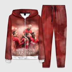 Костюм мужской Manchester United цвета 3D-белый — фото 1