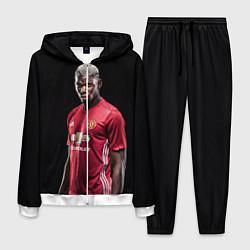 Костюм мужской Погба: Манчестер Юнайтед цвета 3D-белый — фото 1