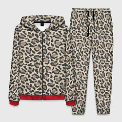 Костюм мужской Шкура леопарда цвета 3D-красный — фото 1