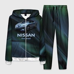 Костюм мужской Nissan the best цвета 3D-белый — фото 1