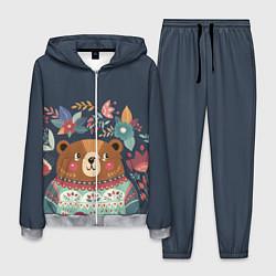 Костюм мужской Осенний медведь цвета 3D-меланж — фото 1