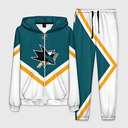Костюм мужской NHL: San Jose Sharks цвета 3D-белый — фото 1