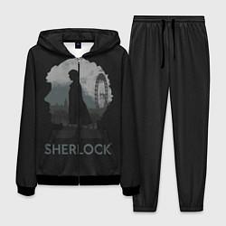 Костюм мужской Sherlock World цвета 3D-черный — фото 1