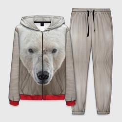 Костюм мужской Белый медведь цвета 3D-красный — фото 1